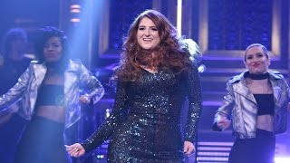 Meghan Trainor Takes a Tumble on 'The Tonight Show'