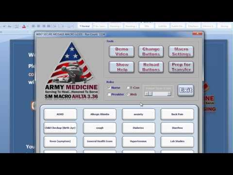 AMEDD Secure Message Macro Demo (v2.03)