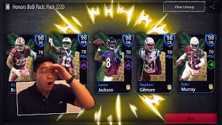 Madden Mobile 20 PULLING NFL HONOR PACKS!! 98 OVR GODS!!