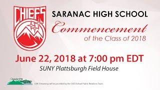 Saranac High School Commencement 2018