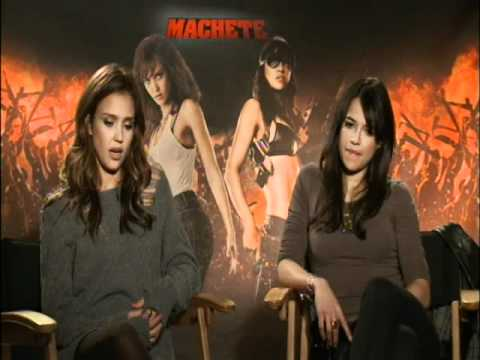 Interview with Jessica Alba and Michelle Rodriguez  for Machete