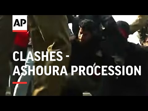 Clashes as police try to disperse Muslims taking part in Ashoura procession