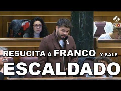 """Gabriel RUFIAN """"RESUCITA A FRANCO"""" y RAJOY le mete un REPASO ÉPICO"""