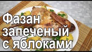 Запеченный фазан фаршированный яблоками в духовке – рецепт как запечь фазана в духовке в рукаве