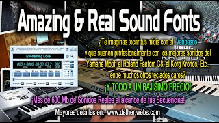Amazing & Real Sound Fonts Tutorial de Instalación y uso.