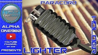 How to make Paracord Lighter holder - fast and easy