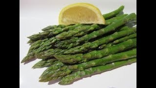 Steamed ASPARAGUS - How to Steam Fresh ASPARAGUS Demonstation