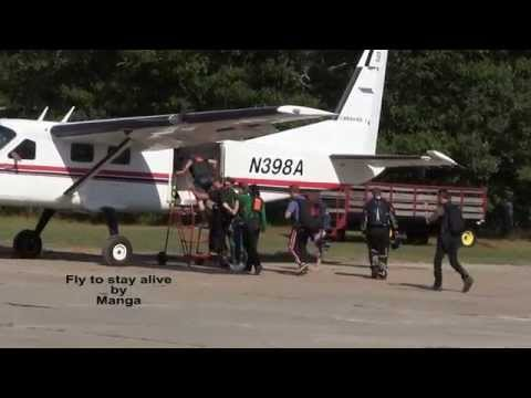 Singer jumps out of airplane at 13,500ft. Song by Magna (fly to stay alive)