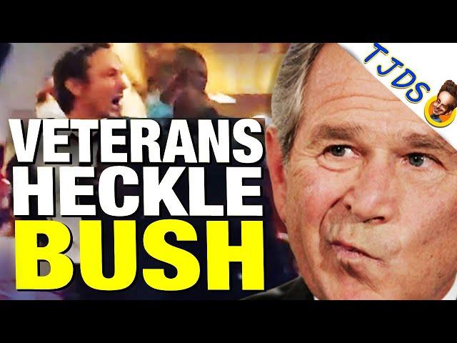 Bush Heckled By Iraq Veterans