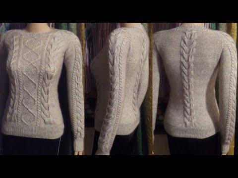 Полный МК по вязанию чудесного бесшовного свитерка спицами за 9,5 часов.)