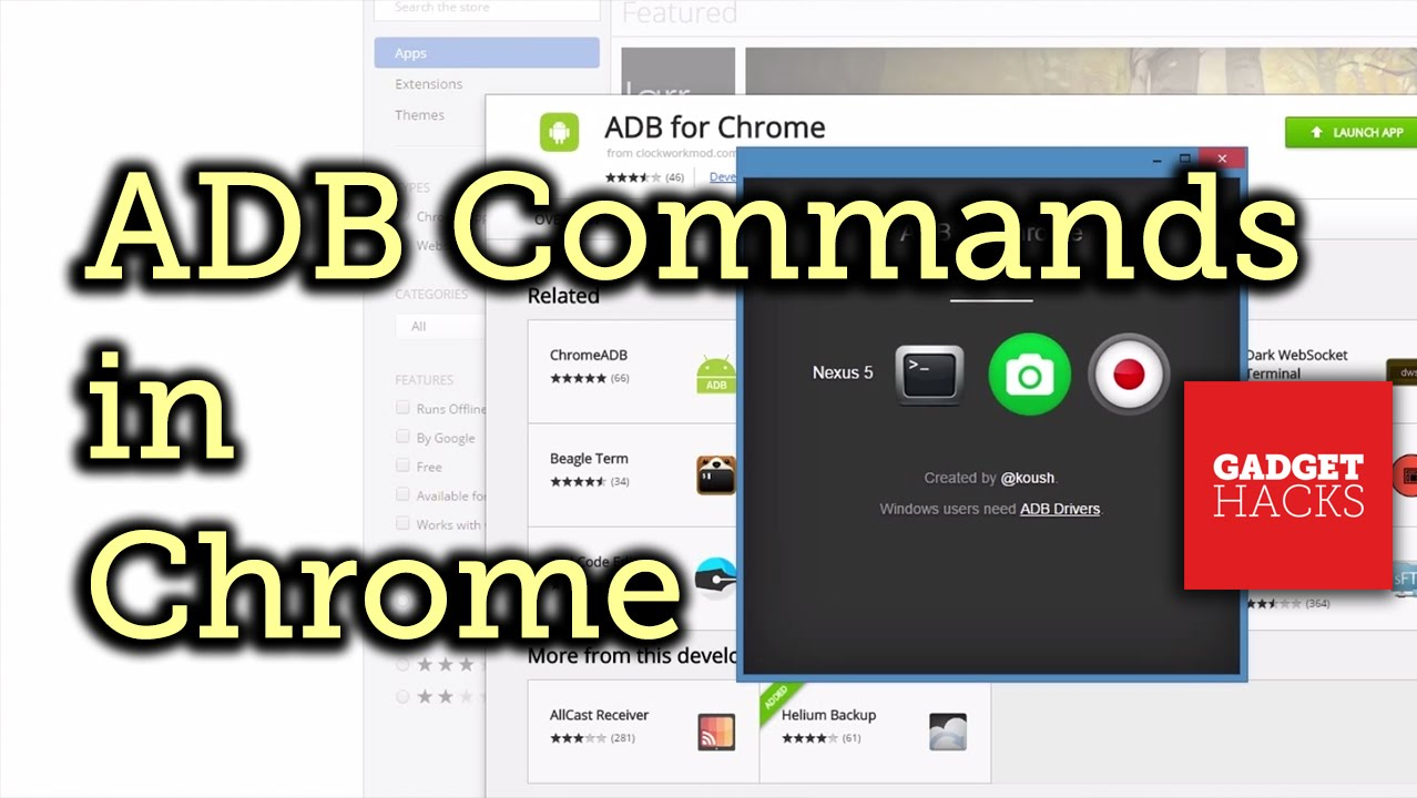 Run ADB Commands on Android from the Chrome Web Browser [How-To]