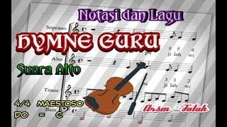 Notasi dan Lagu Hymne Guru Suara Alto Mp3