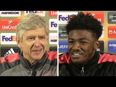 Arsene Wenger & Ainsley Maitland-Niles Pre-Match Press Conference - Arsenal v BATE Borisov
