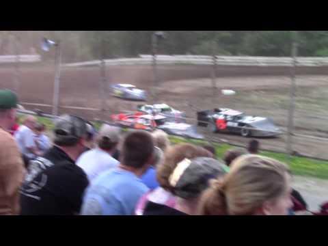 Hummingbird Speedway (7-15-17): BWP Bats Late Model Heat Race #4