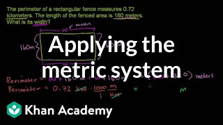 Applying the Metric System