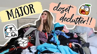 MAJOR DECLUTTER - THE CLOSET PURGE help me i'm drowning in clothes
