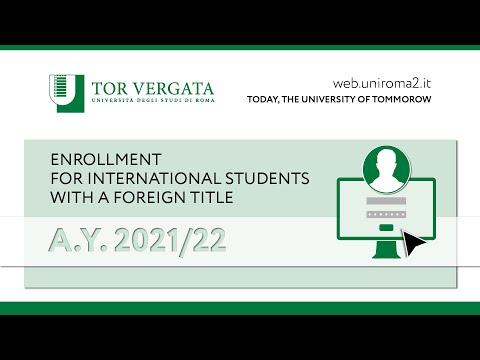 ENROLLMENT FOR INTERNATIONAL STUDENTS  WITH A FOREIGN TITLE