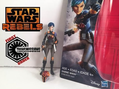 Star Wars Rebels Sabine Wren Season 2 Hasbro Rogue One Figure Review