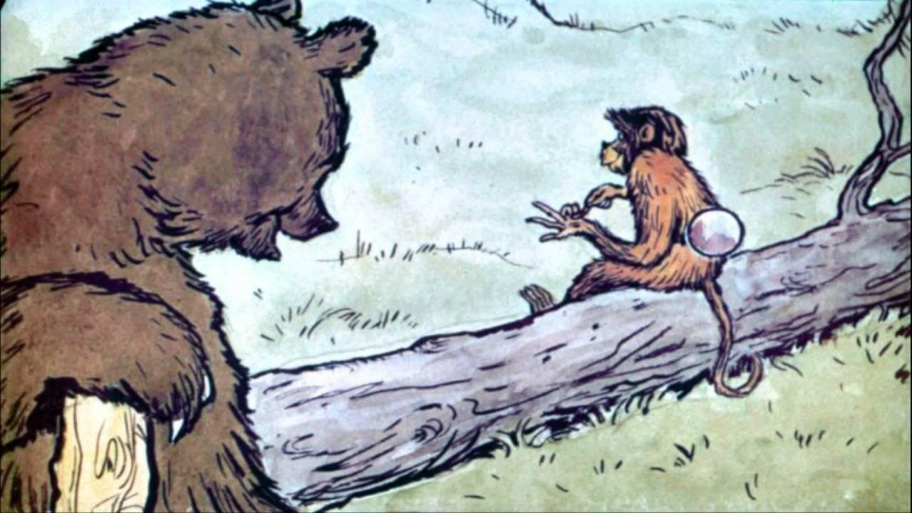 картинки к басне зеркало и обезьяна карандашом трех птичек летит