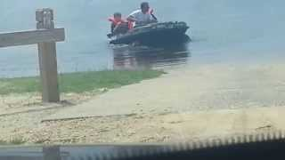 Caught on camera  boat sink with kids on it