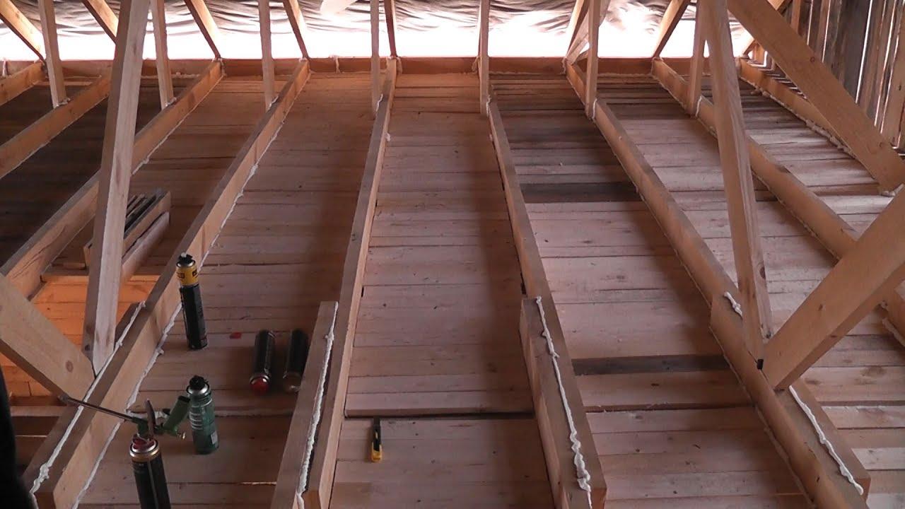 Как сделать черновой потолок в частном доме