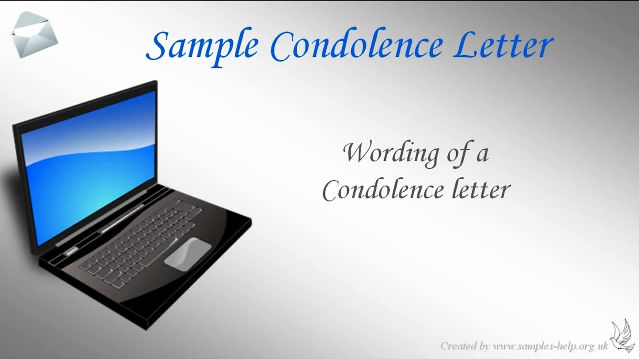 how to write a condolence letter