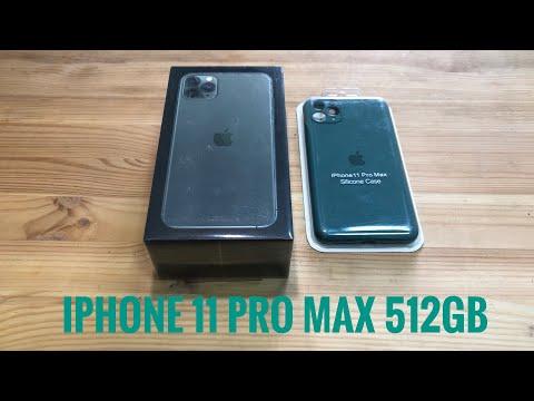 IPhone 11 Pro Max 512GB распаковка активация и Стекло 520D