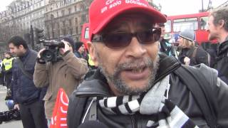 Anti Bedroom Tax Protest at Trafalgar Square and Downing St London 30/03/2013