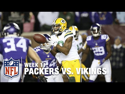 Aaron Rodgers Connects with Randall Cobb for a 10-Yard TD | Packers vs. Vikings | NFL