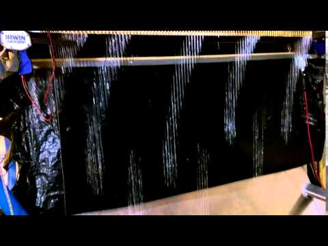 Digital waterfall curtain ....