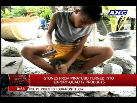 Stones from Pinatubo turned into export-quality products