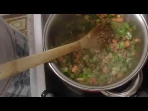 Brown Rice minced Meat Paella by Create Cooking's Channel