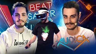 On teste des jeux de Rythme en VR ! (avec Terracid) | Best Of PSVR #03