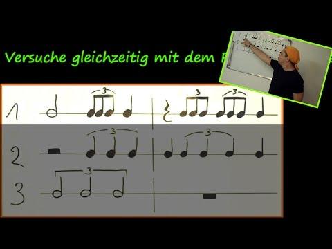Triolen in der Musik richtig spielen lernen - Demo der Vollversion 36min im Onlinekurs