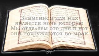 Священный Коран. Сура №36 Йа Син