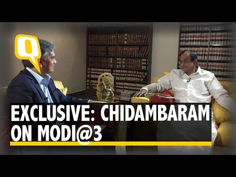 The Quint | India is Not More Peaceful Or Stronger Than In 2014: Chidambaram