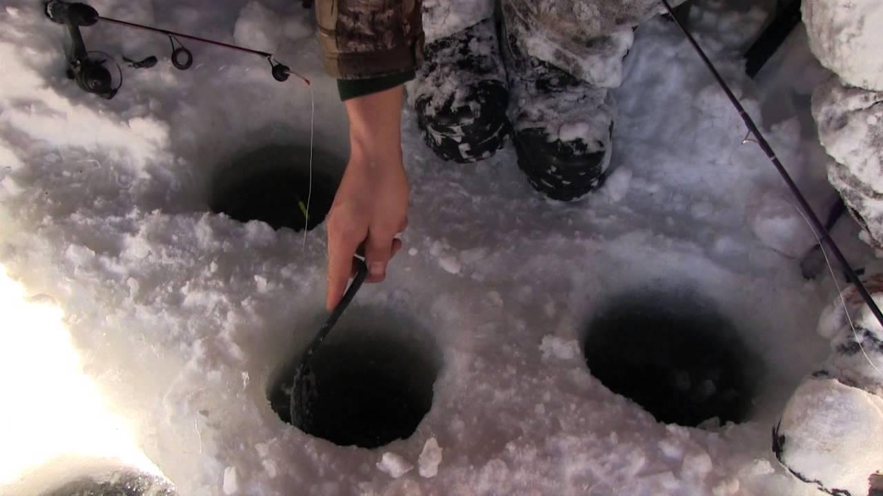 Shabbona lake state recreation area ice fishing youtube for Illinois ice fishing reports