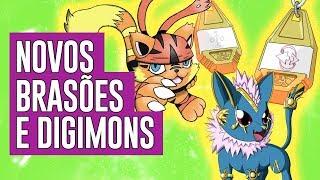 Novos Brasões e Digimons
