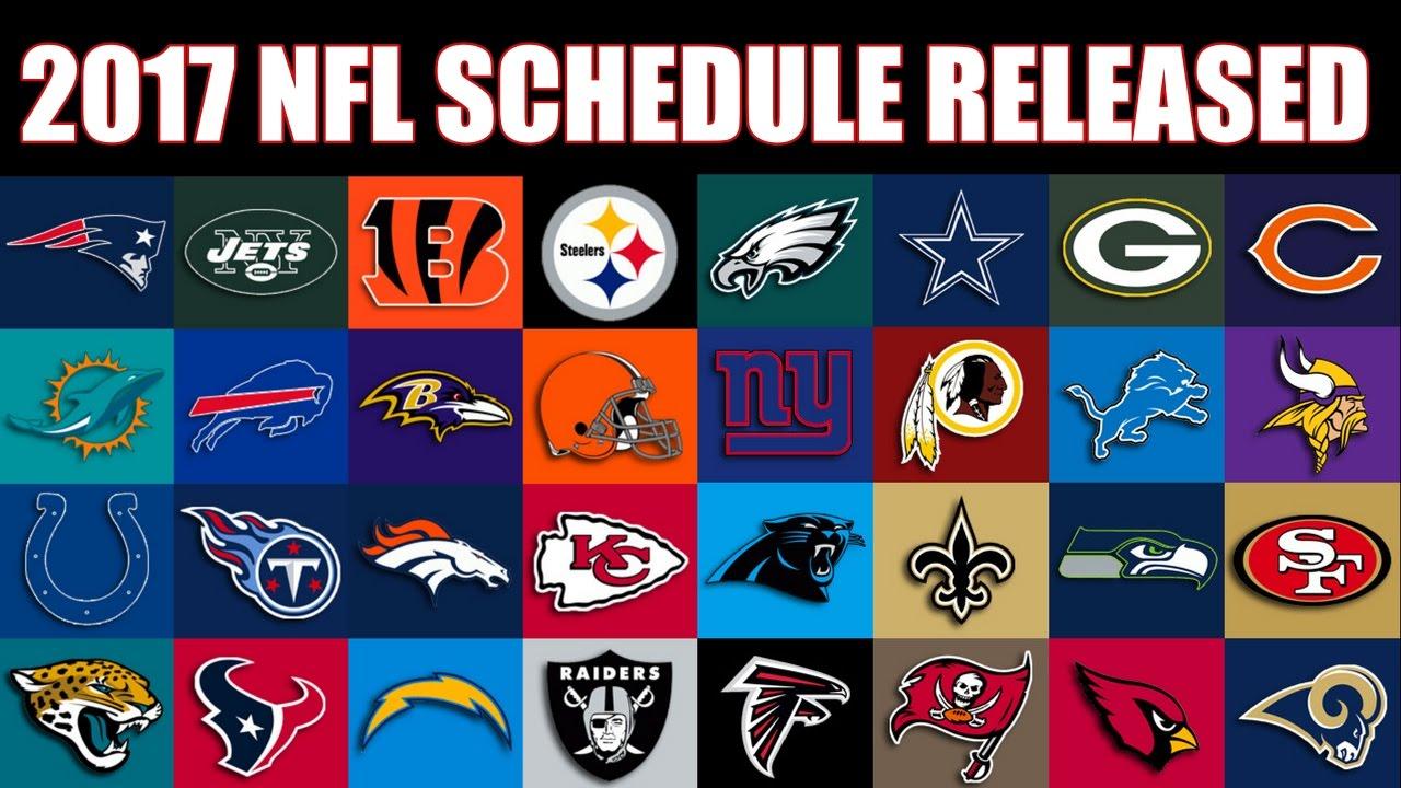 2017 NFL Schedule has been released! - YouTubeSteelers Schedule