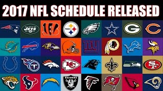 2017 NFL Schedule has been released!