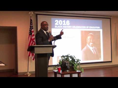 Dr. Preston Williams keynote at Kankakee Black History Celebration of Education