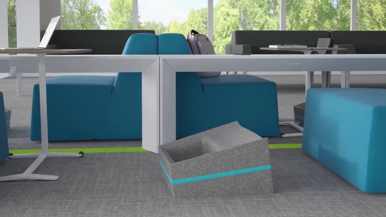 Steelcase Thread Power Distribution System – Animation