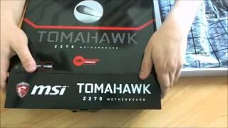 unboxing MSI Z270 TOMAHAWK
