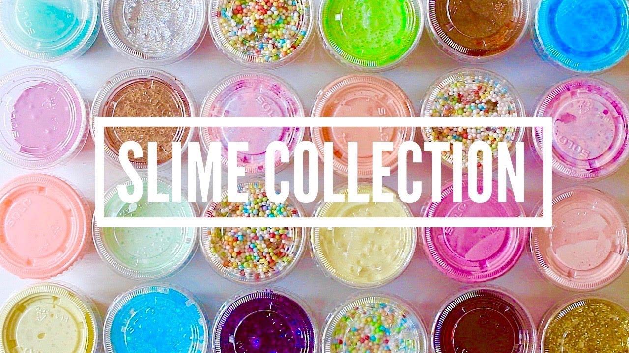 HUGE Slime Collection 2017 + ODDLY Satisfying Slime ASMR ...