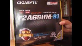 обзор материнськой платы Gigabyte F2A68HM-S1 (Overview motherboard F2A68HM-S1)