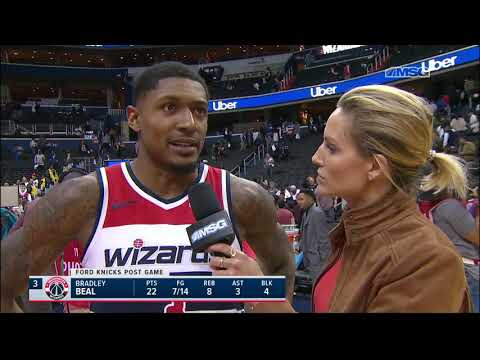 Wizards' Bradley Beal Gives Allonzo Trier His Respect   New York Knicks Postgame