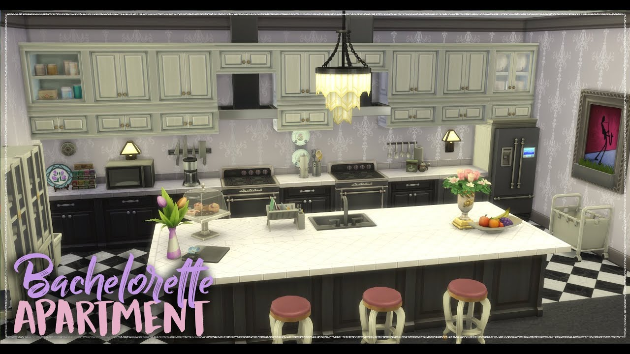 The sims 4 speed build bachelorette apartment youtube for Bachelorette apartment
