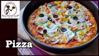 ইস্ট ছাড়াই প্যান পিঁজা তৈরী করার দুইটি উপায় - Pan Pizza Without Oven   Without Yeast Pizza Recipe