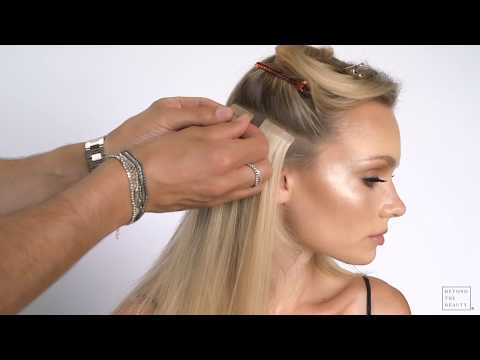 750672d91215 How to Apply SHE Tape-In Hair Extensions - Beyond the Beauty - YouTube