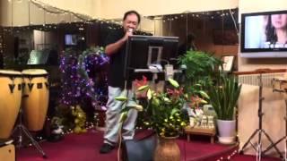 三田村さんが、美笑歌で、東京かげぼうしを歌いました。